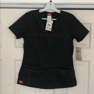 Women's Dickies scrub top black size xs NWT